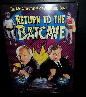 Adam West Batman 1966 Tv Movie Series Signed Return To The Batcave Dvd To Mike