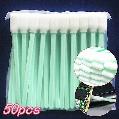 50x Small Foam Tipped Cleaning Swabs Sponge for Camera Inkjet Printer Electronic
