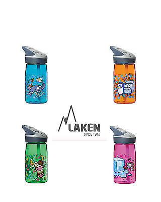 Flip Straw Kids water bottle by Laken (Jannu)   - 450ml Assorted Colours