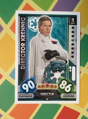 Star Wars Director Krennic Topps Force Attax Trading Game Card No.89