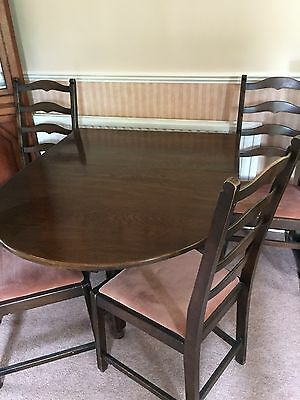 gate leg table and chairs