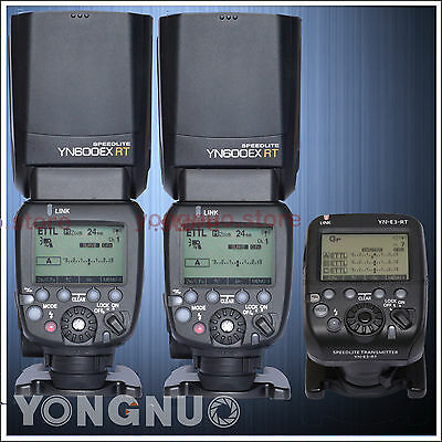 Yongnuo Flash Speedlite YN600EX-RT II Transmitter YN-E3-RT HSS ETTL for Canon