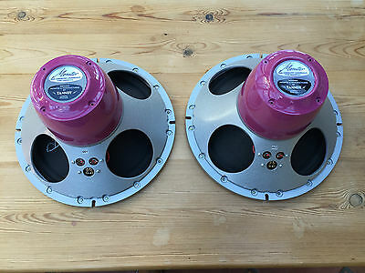 "Lovely pair NEW build TANNOY 12"" Red Reds Gold Golds speakers new parts"