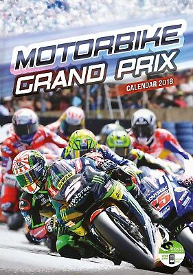 """Moto Gp Official Calendar 2018  With  """"free"""" Uk Tracked Delivery"""