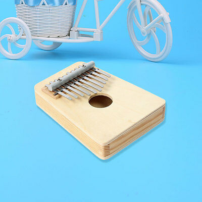 New 10 Keys Finger Thumb Music Pocket Piano Kalimba Instrument Ivory white