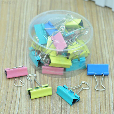 24Pcs 32mm Foldback Metal Binder Bulldog Clips For Home Office School File Paper