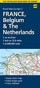 3. France & Benelux (AA Road Map Europe Series), Good Condition Book, AA Publish