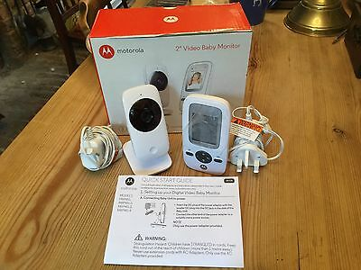 """Motorola 2"""" Two inch Video Baby Monitor Used For 4 Days Only Very Good Condition"""