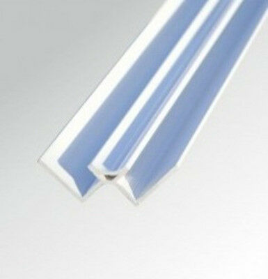 10mm WHITE PVC INTERNAL CORNER TRIM for Shower Wall Panels Wet Wall Cladding