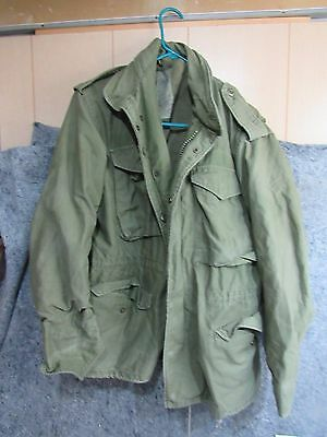 VINTAGE 1981 US ARMY M-65 M65 FIELD JACKET W/ LINER SMALL Short
