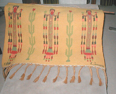 Native American Style CORN MAIDEN  Wall Hanging by K. Jensen