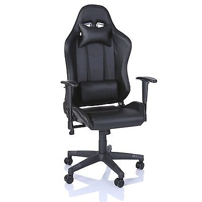 Office Desk Chair PU Leather Executive High Back Gaming Racing Swivel Black