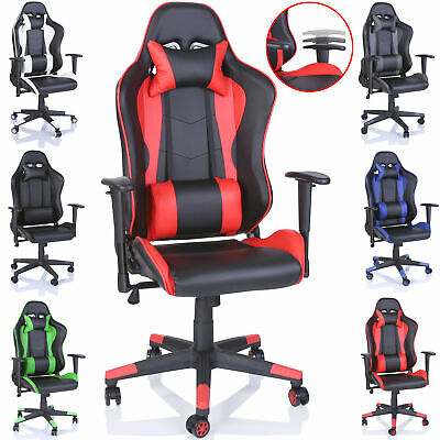 Office Desk Chair PU Leather Executive High Back Gaming Racing Swivel Chair