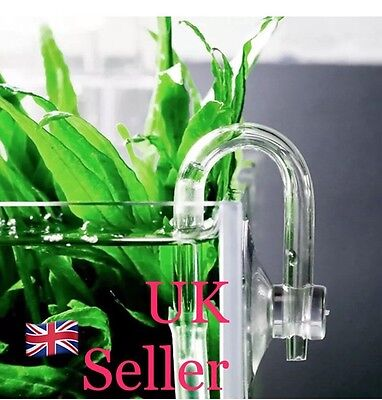 U Shaped Glass Tube Bend Acrylic Pipe For Aquarium Co2 System Diffuser