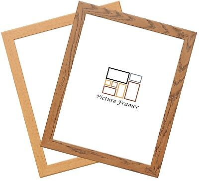 Picture Frames Dark Oak Photo Frames Panoramic Square Sizes Wood Wooden Effect