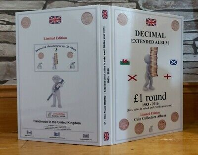 £1 ONE POUND EXTENDED COIN HUNT ALBUM for your 46X ROUND POUND COINS - ALBUMONLY