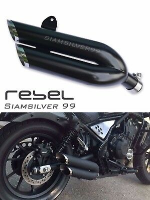 Honda Rebel Cmx 500 300 2017 Double Exhaust System Pipe Slip On Custom Cafe Bobb