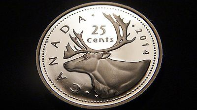 2014 Canada PROOF FINE SILVER 25¢ Coin – NICE Cdn Quarter from PROOF SET!