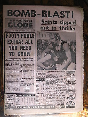 Sporting Globe AUG 5 1972 St Kilda Essendon