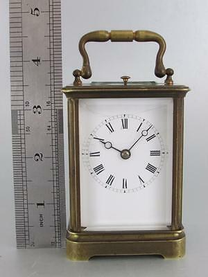 MINIATURE STRIKE REPEAT CARRIAGE CLOCK for restoration ANTIQUE FRENCH SIGNED