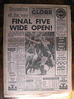 Sporting Globe August 26 1972 Finals Wide Open  Hawthorn