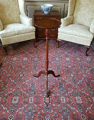Tall Mahogany Candle Stand By Former Biggs Furniture Company's Master Craftsman