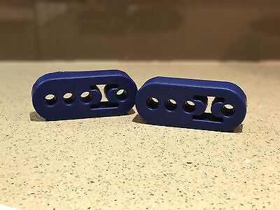 Universal Car Exhaust Hanger Mount Poly / Polyurethane. NOT Rubber. PAIR