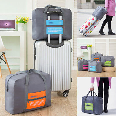 Travel Big Size Foldable Luggage Bag Clothes Storage Carry-On Duffle Bag Orange