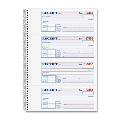 Adams Money and Rent Receipt Book, 2-Part Carbonless, 2.75 x 7.13 Inch Detached,
