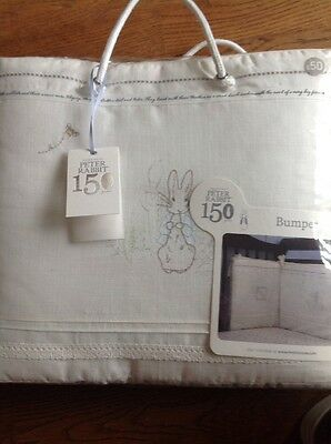 Mothercare Peter Rabbit ( Beatrix Potter 150 Years ) Cot / Cotbed Bumper Bnip