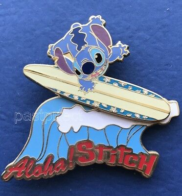 Disney Store Japan Pin Stitch Surfboard Aloha Hawaii Surfing Moves on Spring JDS