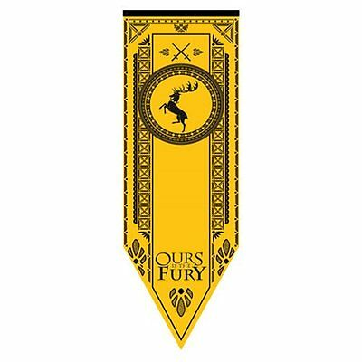 Game of Thrones * Baratheon Sigil Tournament Banner *60 x 18 Fabric Poster Print