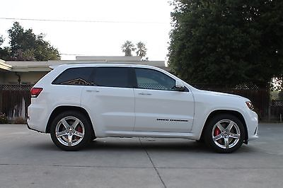 "2017 Jeep Grand Cherokee SRT 2017 Jeep Grand Cherokee  ""S R T"" BRIGHT WHITE 475HP  EVERY OPTION - NO RESERVE"