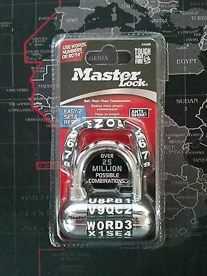New Master Lock 1534D Password Plus Combo Lock - Black