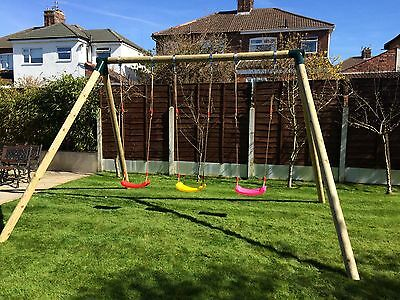 Children's garden swing kit. Triple set: choose your seats and accessories.