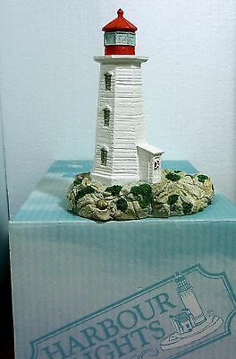 "Harbour Lights ""Peggy's Cove"" Nova Scotia, Perfect, Org. box, COA"