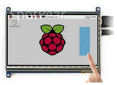 LANDZO 7 Inch Touch Screen for Raspberry Pi 3 Model B and Pi 2  7 Inch Touch