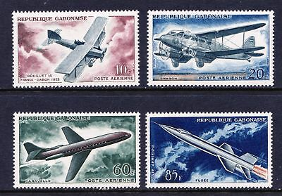 GABON 1962 Evolution of Air Transport - MNH set of 4 - Cat £7.50 - (55)