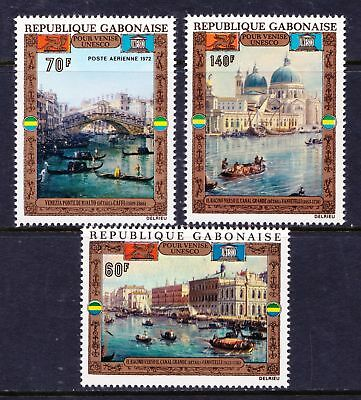 "GABON 1972 UNESCO ""Save Venice"" Campaign ART- MNH set of 3 - Cat £13.25 - (51)"