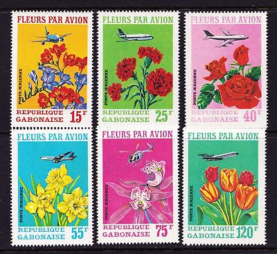 GABON 1971 Flowers - MNH set of 6 - Cat £9.00 - (47)