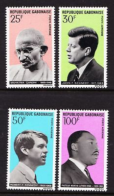 "GABON 1969 ""Apostles of Peace"" Kennedy, Gandhi, King - MNH - Cat £4.90 - (40)"