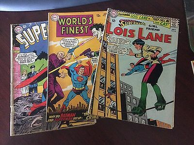 Mixed LOT OF 8  DC Comic Books. 1960's through 1970's Superman and Metal Men