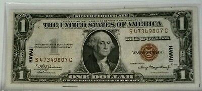 1935 A Silver Certificate Emergency Hawaii Brown Seal $1 Currency Note! USC092
