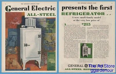 1929 General Electric Refrigerator All Steel Appliance Kitchen Cleveland OH Ad