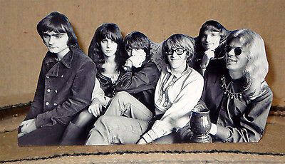 "Jefferson Airplane Rock and Roll Tabletop B&W Standee 10 1/2"" Long"