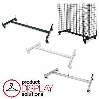FREE SHIPPING!! Grid Gridwall Gondola Base w/ Casters | BLACK, WHITE or CHROME
