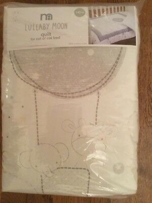 *** Brand New *** Mothercare Lullaby Moon Quilt For A Cot Or A Cotbed