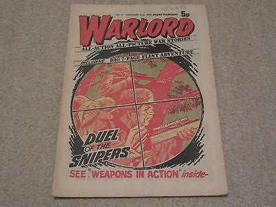 WARLORD comic No 6 , 02,Nov, 1974-good condition