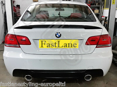 BMW E93 Custom Built Stainless Steel Exhaust Rear Dual System & Diffuser