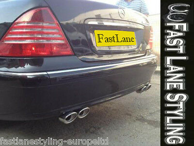 Mercedes S-Class Custom Build Stainless Steel Exhaust Cat Back Dual System